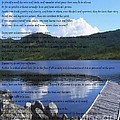 Desiderata On Pond Scene With Mountains by Barbara Griffin