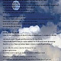 Desiderata On Sky Scene With Full Moon And Clouds by Barbara Griffin