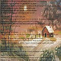 Desiderata On Snow Scene With Cabin by Barbara Griffin