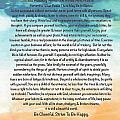 Desiderata Poem On Brighton Beach Watercolor by Desiderata Gallery