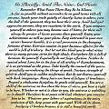 Desiderata Poem On Watercolor by Desiderata Gallery