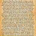 Desiderata Poster On Antique Embossed Wood Paper by Desiderata Gallery