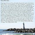 Desiderata Santa Cruz Lighthouse by Max Ehrmann