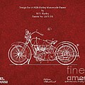 Original Design For A 1928 Harley Motorcycle by Doc Braham