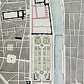 Design For Joining The Tuileries To The Louvre, 1808 Wc On Paper by Charles Percier