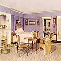 Design For The Interior Of A Bedroom by Richard Goulburn Lovell