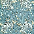 Design In Turquoise by William Morris