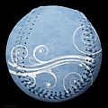 Designer Light Blue Baseball Square by Andee Design