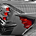 Desoto Red Tail Lights In Black And White by Paul Ward
