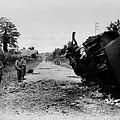 Destroyed U.s. Tank At La by Everett