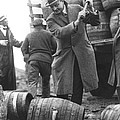 Destroying Barrels Of Beer by Underwood Archives