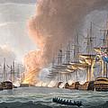 Destruction Of The Danish Fleet by Thomas Whitcombe