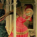 Detail From The Annunciation Showing The Angel Gabriel by Fra Angelico