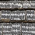 Detail Of A Carved Mani Stone In The Everest Region Of Nepal by Robert Preston
