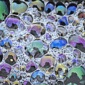Detail Of Rainbow-colored Bubbles by Tim Fitzharris