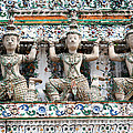 Detail Of Temple, Thailand by David Davis