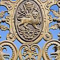 Detail Of The Bagh E Melli Gate In Tehran Iran  by Robert Preston