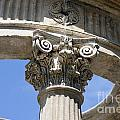 Detailed View Of Corinthian Order Column by Jason O Watson