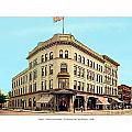 Detroit - The Brunswick Hotel - Grand Rive And Cass Avenues - 1900 by John Madison