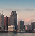 Detroit At Dusk by Andreas Freund