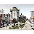 Detroit - Cadillac Square - 1905 by John Madison