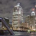 Detroit Fountain And Cityscape by John McGraw