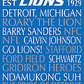 Detroit Lions by Jaime Friedman