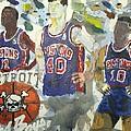Detroit Pistons Bad Boys  by Tyrone Scott