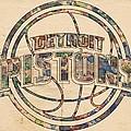 Detroit Pistons Poster Art by Florian Rodarte