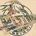Detroit Pistons Retro Poster by Florian Rodarte