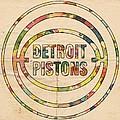 Detroit Pistons Vintage Logo by Florian Rodarte