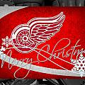 Detroit Red Wings Christmas by Joe Hamilton