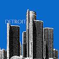 Detroit Skyline 1 - Blue by DB Artist