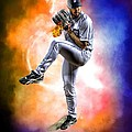 Detroit Tiger Justin Verlander by A And N Art