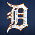 Detroit Tigers Baseball Old English D Logo License Plate Art by Design Turnpike