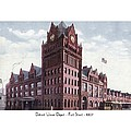 Detroit - Union Depot - Fort Street - 1907 by John Madison