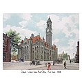 Detroit - United States Post Office - Fort Street - 1908 by John Madison