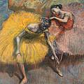 Deux Danseuses Jaunes Et Roses by Edgar Degas