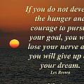 Develop The Hunger And Courage by Pharaoh Martin