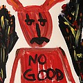 devil with NO GOOD tee shirt by Mary Carol Williams