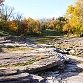 Devonian Fossil Gorge Coralville Lake Ia 3 by Cynthia Woods