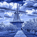 deZwaan Holland Windmill in Delft Blue by Randall Nyhof