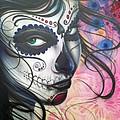 Dia De Los Muertos Chica by Mike Royal