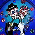 Dia De Los Muertos Kiss The Bride by Pristine Cartera Turkus