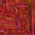 Diagonal Tiles In Reds by Joy McKenzie