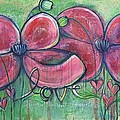 Dialogues Of The Heart Poppies by Laurie Maves ART