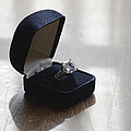 Diamond Ring On A Black Box by Jill Battaglia