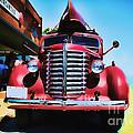 Diamond T Truck - Tomato Red by Lesa Fine