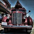 Diamond T Vintage Truck Art by Lesa Fine