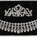 Diamond Tiara, Necklace, And Ear Rings Presented by English School